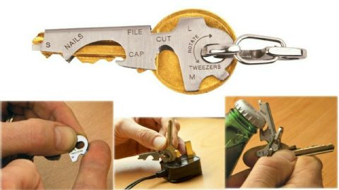 Multi Function 8 in 1 Tool Key Ring Ideal gift for Dad's Birthday or Fathers Day
